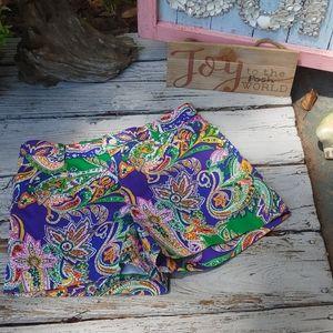 RL Sport purple paisley shorts